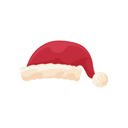 cute red santa claus hat on white background vector illustration design Ilustracja