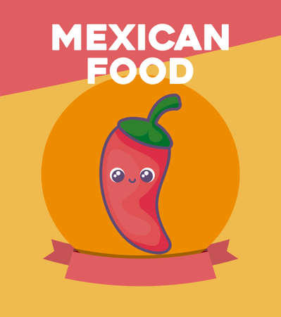 card with Mexican food label vector illustration design Illustration