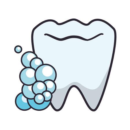 tooth human with foam vector illustration design Reklamní fotografie - 140372202