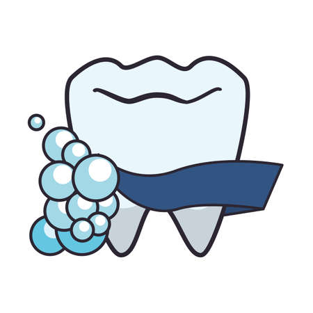 tooth human with foam vector illustration design Ilustrace