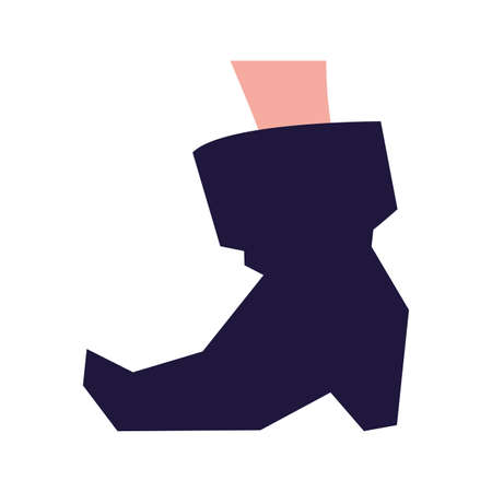 Boot design, Halloween holiday horror scary celebration autumn dark and party theme Vector illustration Ilustracja