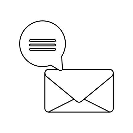 envelope mail with speech bubble vector illustration design