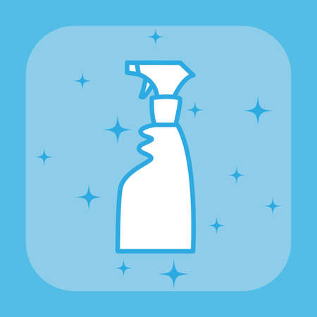 spray bottle cleaning products and supplies vector illustration