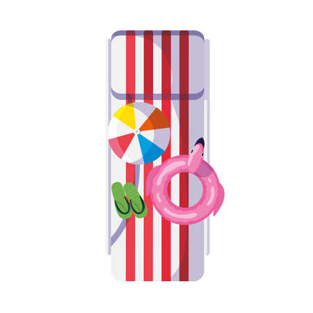 summer float with flemish and balloon vector illustration design