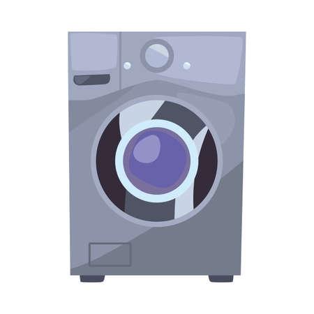 washing machine cleaning supply on white background vector illustration