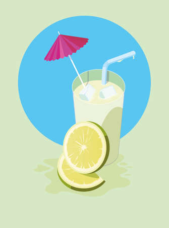 lemon juice design, Drink glass beverage fresh food and healthy theme Vector illustration