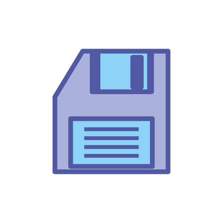 floppy disk digital isolated icon vector illustration design Ilustrace