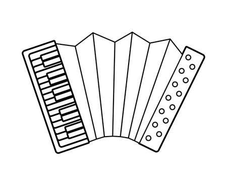 accordion instrument music isolated icon vector illustration design