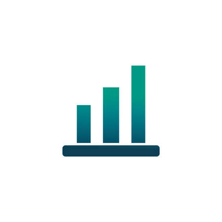 bar graphs, gradient style icon vector illustration design Иллюстрация