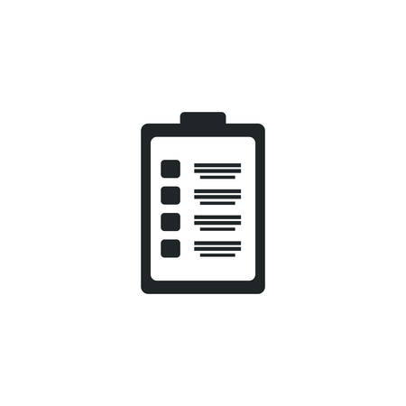 clipboard with clinic history, silhouette style icon vector illustration design