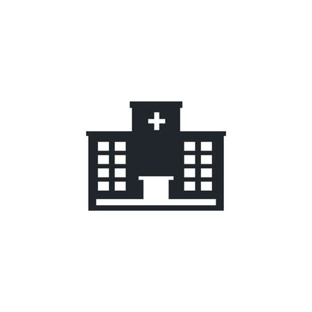 hospital building, silhouette style icon vector illustration design