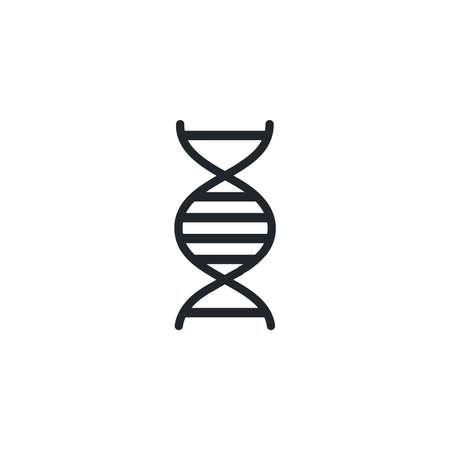 dna molecule , silhouette style icon vector illustration design Ilustrace
