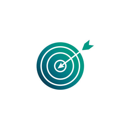 target and arrow, gradient style icon vector illustration design