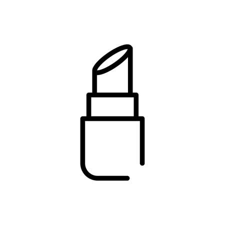 lipstick over white background, line style icon, vector illustration