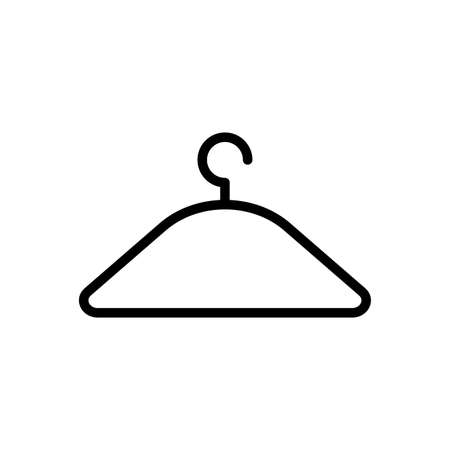 clothes hanger over white background, line style icon, vector illustration