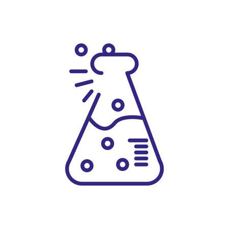 flask bottle iconover white background, line detail style, vector illustration Illustration