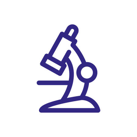 microscope tool icon over white background, thick line style, vector illustration Illustration