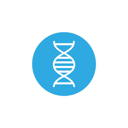 dna molecule , block and flat style icon vector illustration design