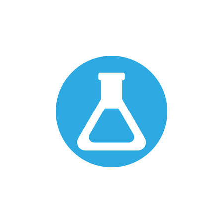 chemical laboratory test tubes, block and flat style icon vector illustration design