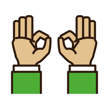hands like isolated icon vector illustration design