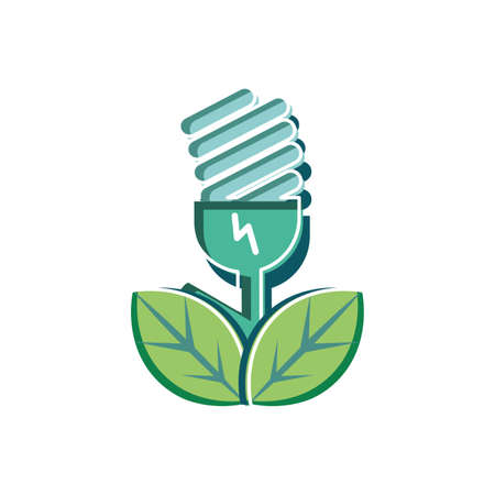 Light bulb design, Sustainability eco friendly green recycle ecology renewable and solution theme Vector illustration