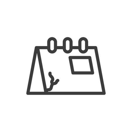 silhouette of calendar reminder on white background vector illustration desing