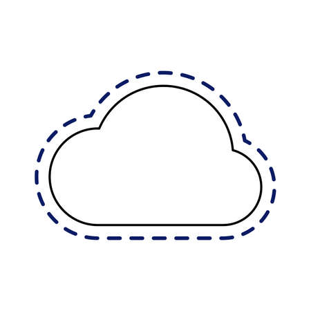 patch of cloud computing technology isolated icon vector illustration design Ilustracja