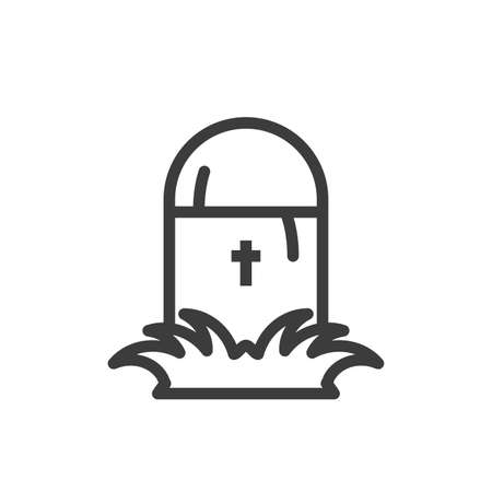 silhouette of graveyard tombstone on white background vector illustration design