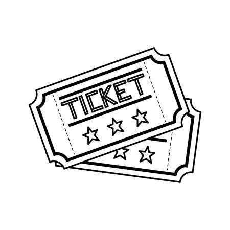 set tickets cinema movie isolated icon vector illustration design