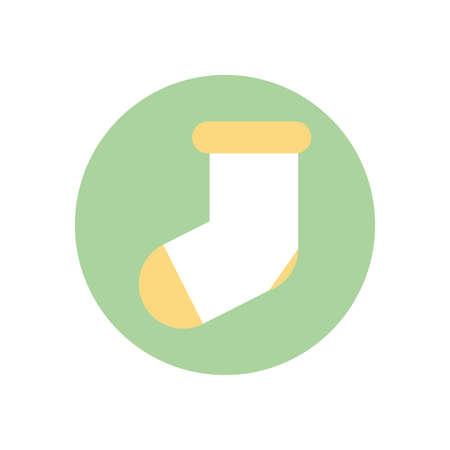 baby sock design, Child newborn childhood object innocence and little theme Vector illustration Ilustrace