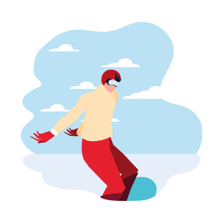 snowboarder extreme sport and lifestyle vector illustration