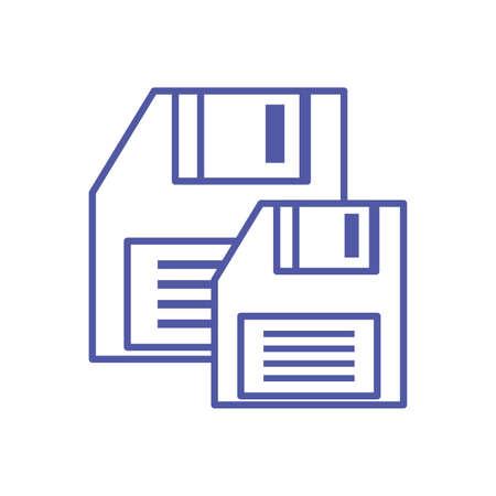 set of floppy disk digital isolated icon vector illustration design