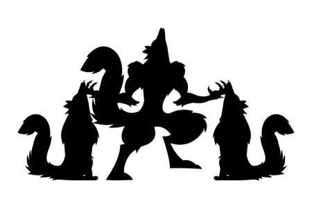 werewolf design, Halloween holiday horror scary celebration autumn dark and party theme Vector illustration