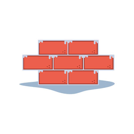 Bricks wall design, under construction work repair progress reconstruction industry and build theme Vector illustration Banque d'images - 140648703
