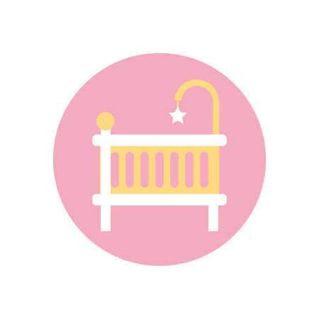 baby cradle design, Child newborn childhood object innocence and little theme Vector illustration Stock Illustratie