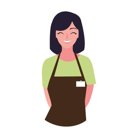 seller woman design, shop store market shopping commerce retail buy and paying theme Vector illustration 스톡 콘텐츠 - 140829786