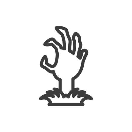 silhouette of zombie hand in white background vector illustration design