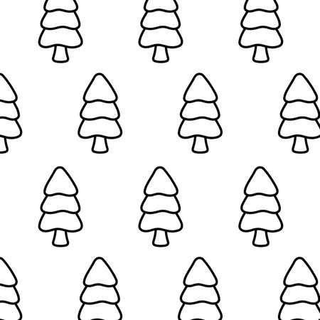 pattern of christmas tree on white background vector illustration design