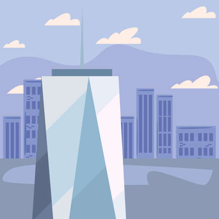 skyscraper urban city sky background vector illustration Ilustracja