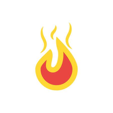 Flame design of Fire bonfire hot burn light flammable heat and campfire theme Vector illustration Illustration