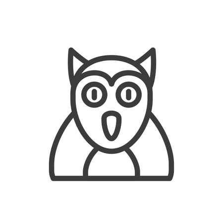 silhouette of barn owl on white background vector illustration design