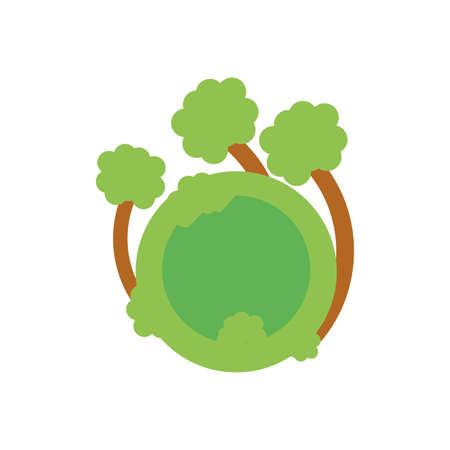 tree plants nature isolated icon vector illustration design