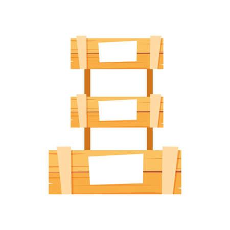 Boxes design, Delivery shipping logistics transportation distribution and merchandise theme Vector illustration Illusztráció