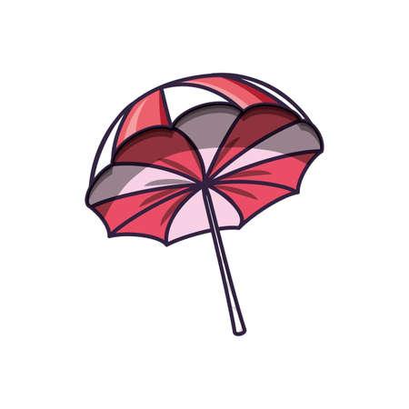 beach umbrella open summer accessory vector illustration design Ilustrace