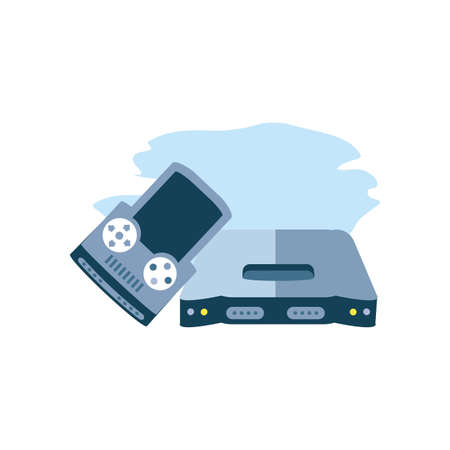 handle video game with console vector illustration design