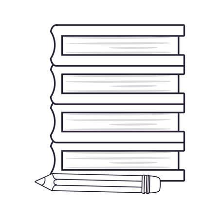 book stacked pencil back to school vector illustration Vektoros illusztráció