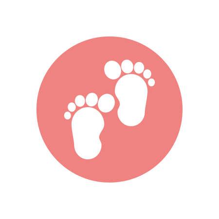 baby footprints design, Child newborn childhood object innocence and little theme Vector illustration