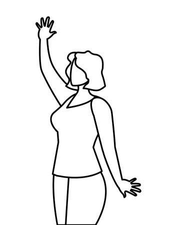 elegant businesswoman avatar character vector illustration design Illusztráció