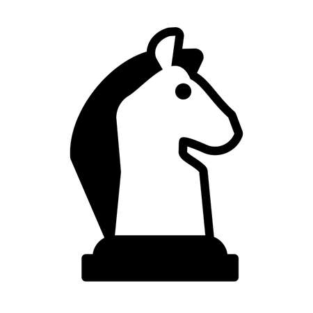 horse chess piece, chess game on white background vector illustration design 일러스트