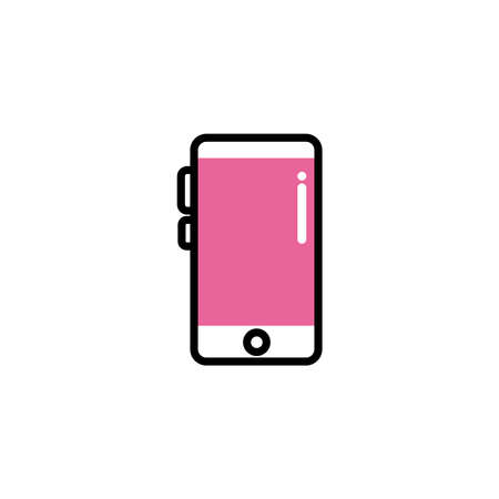 smartphone screen, line style and color vector illustration design